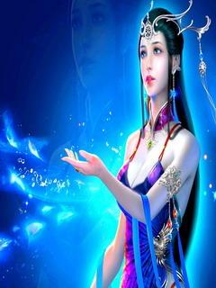 Blue Beauty Girl Mobile Wallpaper