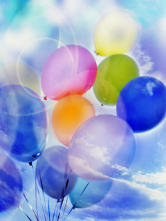 Colors Balloons And Sky Mobile Wallpaper