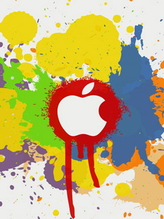 Apple Color Splash Effect  Mobile Wallpaper