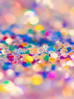 Colorful Glitter Diamond Mobile Wallpaper