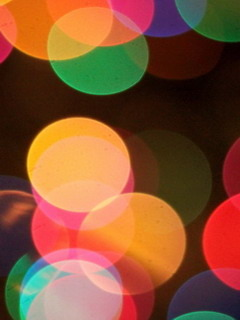Circles Bokeh Colored 3D Mobile Wallpaper