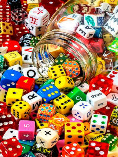 Colorful Dices Mobile Wallpaper