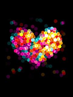 Colorful Heart Mobile Wallpaper