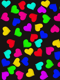 Colors Hearts Mobile Wallpaper