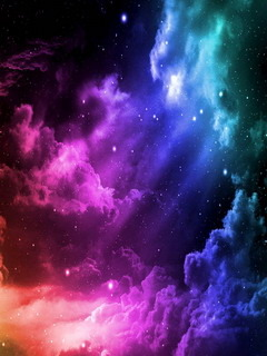 Colorful Abstract In Sky Mobile Wallpaper