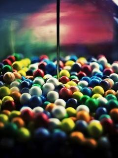 Sweets Colors Bubbles Mobile Wallpaper