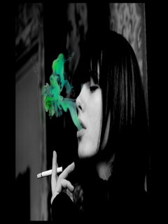 Green Smoking Mobile Wallpaper