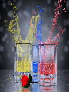 Rode & Color Splash Mobile Wallpaper