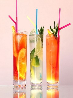 Lovely Lemons Color Cocktails Mobile Wallpaper