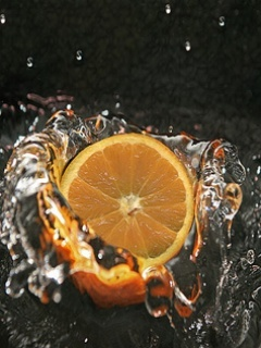 Orange Splash Mobile Wallpaper