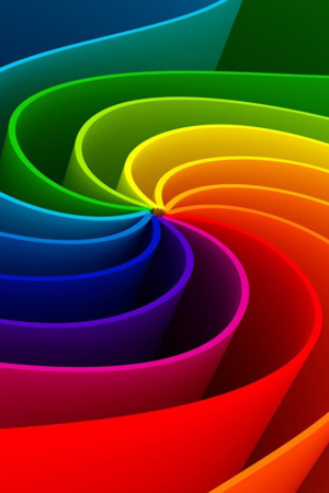3D Design Abstract Rainbow IPhone Wallpaper Mobile Wallpaper
