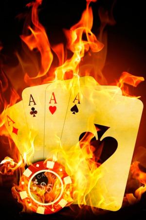Download Fire Poker Card IPhone Wallpaper Mobile Wallpaper