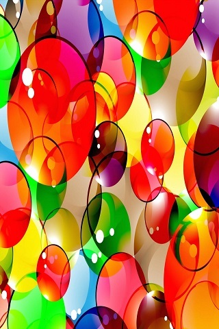 Abstract Colorful Circles Android Wallpaper Mobile Wallpaper
