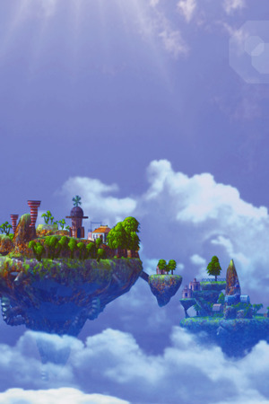 Fairy SkyIsland Castle IPhone Wallpaper Mobile Wallpaper