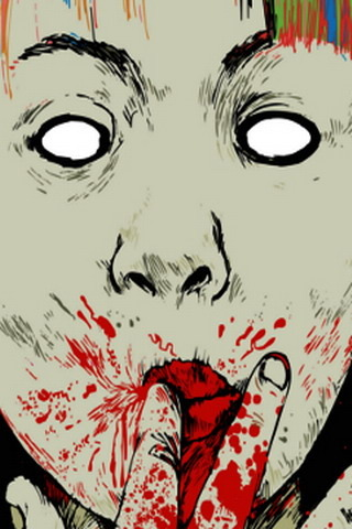 Blood Kid Mouth IPhone Wallpaper Mobile Wallpaper