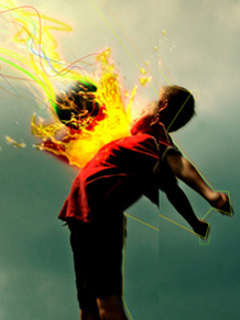 Hit Body Fire Ball Mobile Wallpaper