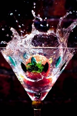 Splash Fruits Water Juice Mobile Wallpaper