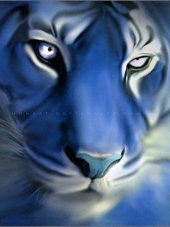 Blue Tiger Mobile Wallpaper