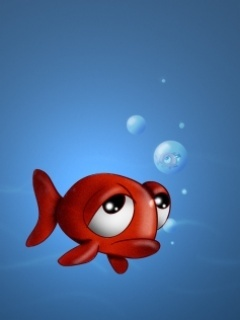 Funny Fish Underwater Mobile Wallpaper