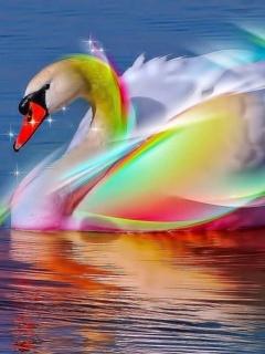 Beauty Swan Mobile Wallpaper
