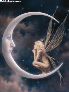 Moon Fairy Mobile Wallpaper