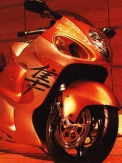 Bike Orange  Mobile Wallpaper