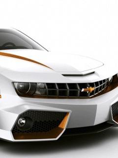 Camaro White Mobile Wallpaper
