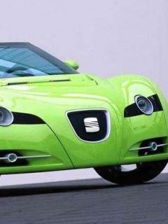 Green Car Mobile Wallpaper