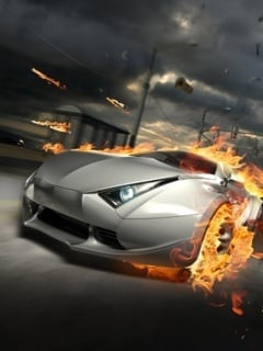 Fire Car Mobile Wallpaper