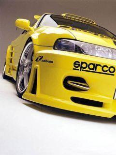 Yellow Car Sparco Mobile Wallpaper