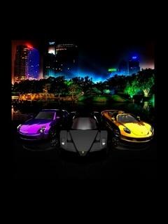 3 Cars Mobile Wallpaper