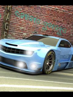 Camaro Alm Light Blue Mobile Wallpaper
