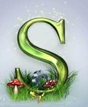 Green Latter S Mobile Wallpaper