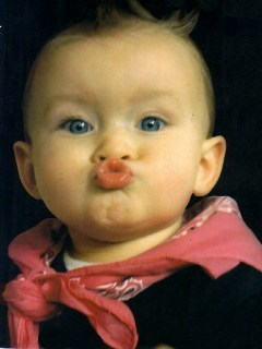 Cute Kid Kiss Mobile Wallpaper