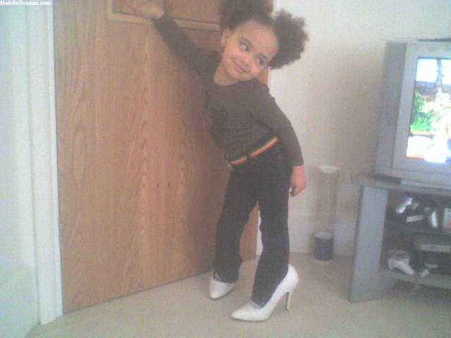 My Grandchild Aliyah Age 3. Mobile Wallpaper