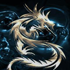 The Blue Dragon Of Ice Mobile Wallpaper