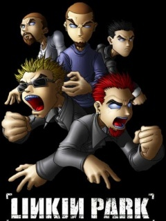 Linkin Park Cartoon Gang Mobile Wallpaper