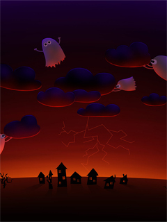Cartoon Ghost Wallpaper Mobile Wallpaper