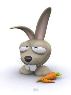 Hare Carrot Mobile Wallpaper
