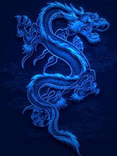 Blue Dragon2 Mobile Wallpaper