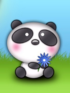 Cartoon With Flower Mobile Wallpaper