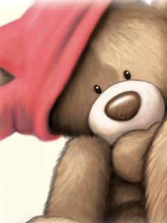 Birthday Bear Mobile Wallpaper