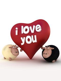 I Love You Sheep Mobile Wallpaper