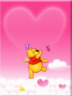 Pooh Love Mobile Wallpaper