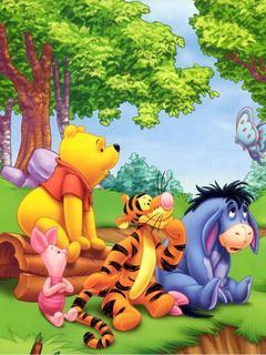 Pooh Family Mobile Wallpaper