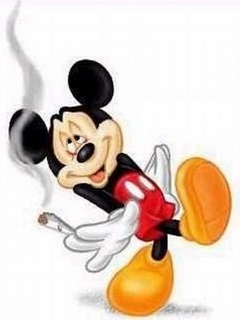 Micky Mouse On Pot Mobile Wallpaper