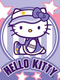 Purple Kitty  Mobile Wallpaper