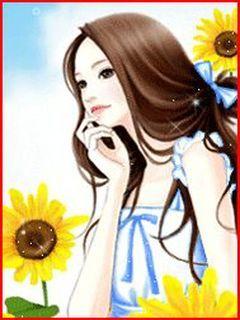 Anime Thinking Mobile Wallpaper