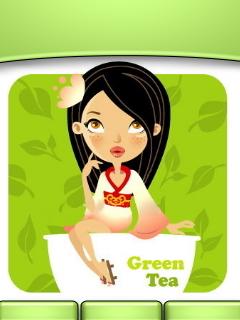 Green Teagi Mobile Wallpaper