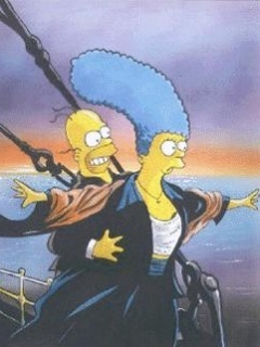 Simpsons Titanic  Mobile Wallpaper